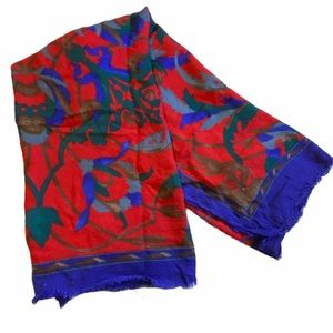 "Italian scarf WPL 11403 red blue 29x29"" square"
